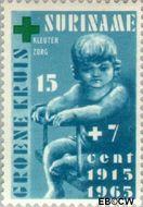 Suriname SU 422  1965 Groene Kruis 15+7 cent  Gestempeld
