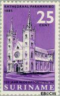 Suriname SU 452  1966 Paters Redemptoristen 25 cent  Gestempeld