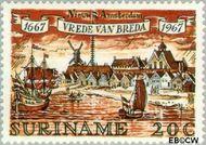 Suriname SU 482  1967 Vrede van Breda 20 cent  Gestempeld
