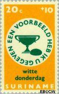 Suriname SU 492  1968 Pasen 20+10 cent  Gestempeld