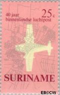Suriname SU 542  1970 Eerste binnenlandse postvlucht 25 cent  Gestempeld
