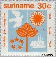 Suriname SU 602  1973 Brits-Indische immigratie 30 cent  Gestempeld