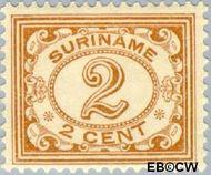 Suriname SU 72  1913 Drukwerkzegel 2 cent  Gestempeld
