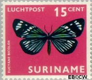 Suriname SU LP47  1972 Vlinders 15 cent  Gestempeld