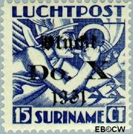 Suriname SU LP9  1930 DO. X vlucht 15 cent  Gestempeld