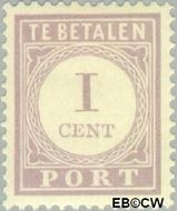 Suriname SU PT18  1913 Port 1 cent  Gestempeld