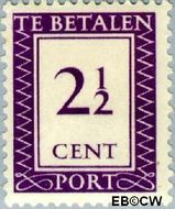 Suriname SU PT38  1950 Port 2½ cent  Gestempeld