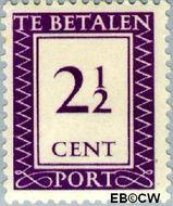Suriname SU PT38  1950 Port 2½ cent  Gestempeld