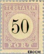 Suriname SU PT8  1886 Port 50 cent  Gestempeld