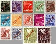 Berlin ber 21#34  1949 Rode opdruk  Postfris