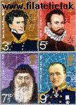 Groot-Brittannië grb 590#593  1972 Poolonderzoekers  Postfris
