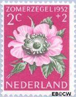 Nederland NL 583  1952 Bloemen 2+2 cent  Postfris