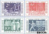 Nederland NL 588#591  1952 Rijkstelegraaf en postzegeljubileum   cent  Postfris