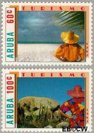 Aruba AR 28#29  1987 Toerisme  cent  Postfris