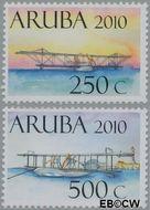 Aruba AR 438#439  2010 Historische vliegtuigen  cent  Postfris