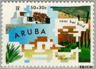 Aruba AR 131  1993 Symboliek 50+30 cent  Gestempeld
