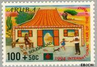Aruba AR 141  1994 Solidariteit 100+50 cent  Gestempeld