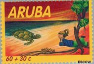 Aruba AR 292  2002 Kind en dieren 60+30 cent  Gestempeld