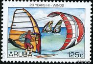Aruba AR 365  2006 Hi-Winds 125 cent  Gestempeld