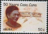 Aruba AR 373  2007 Casa Cuna kinderopvanghuis 50 cent  Gestempeld
