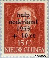 Nieuw-Guinea NG 23  1954 Watersnood 15+10 cent  Gestempeld
