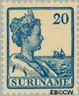 Suriname SU 93  1915 Scheepjes-type 20 cent  Gestempeld