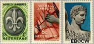 Nederland NL 293#295  1937 Wereld Jamboree   cent  Gestempeld