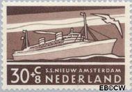 Nederland NL 692  1957 Schepen 30+8 cent  Gestempeld