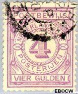 Nederland NL PW5  1884 Gebruik op postbewijsformulieren 400 cent  Gestempeld