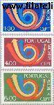 POR 1199#1201 Postfris 1973 C.E.P.T.- Posthoorn