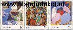 POR 1831#1833 Postfris 1990 Schilderijen 20e eeuw