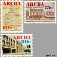 Aruba AR 103#105  1992 Postdienst  cent  Gestempeld