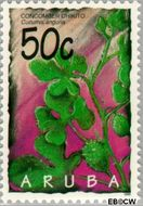 Aruba AR 161  1995 Arubaanse vruchten 50 cent  Gestempeld