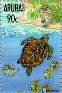 Aruba AR 196f  1997 Pacific '97 tentoonstelling 90 cent  Gestempeld