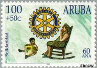 Aruba AR 212  1998 Lions en Rotary 100+50 cent  Gestempeld