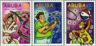 Aruba AR 218#220  1998 Hobby's  cent  Gestempeld