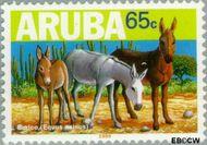 Aruba AR 222  1999 Ezels 65 cent  Gestempeld