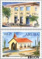 Aruba AR 249#250  2000 Gebouwen  cent  Gestempeld