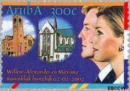 Aruba AR 282  2002 Huwelijk Alexander en Máxima 300 cent  Gestempeld