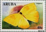 Aruba AR 302  2003 Vlinders 40 cent  Gestempeld