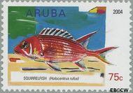 Aruba AR 322  2004 Vissen 75 cent  Gestempeld
