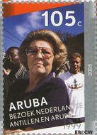 Aruba AR 339d  2005 Regeringsjubileum Koningin Beatrix 105 cent  Gestempeld