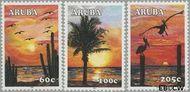 Aruba AR 340#342  2005 Zonsondergang  cent  Gestempeld