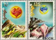 Aruba AR 44#45  1988 Liefde  cent  Postfris
