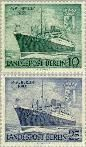 Berlin ber 126#127  1955 Motorschip Berlin  Postfris