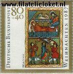 Bundesrepublik BRD 1346#  1987 Kerstmis  Postfris
