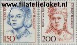 Bundesrepublik BRD 1497#1498  1991 Bekende vrouwen  Postfris