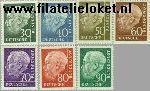 Bundesrepublik BRD 259#265  1957 Heuss, Theodor  Postfris