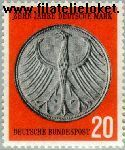 Bundesrepublik BRD 291#  1958 Duitse Mark  Postfris