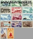 Gibraltar gib 134#147  1953 Koningin Elizabeth- Landschappen  Postfris